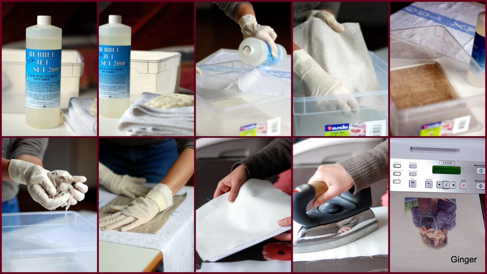 chroniques 2 scrap transfert d 39 image sur tissu. Black Bedroom Furniture Sets. Home Design Ideas