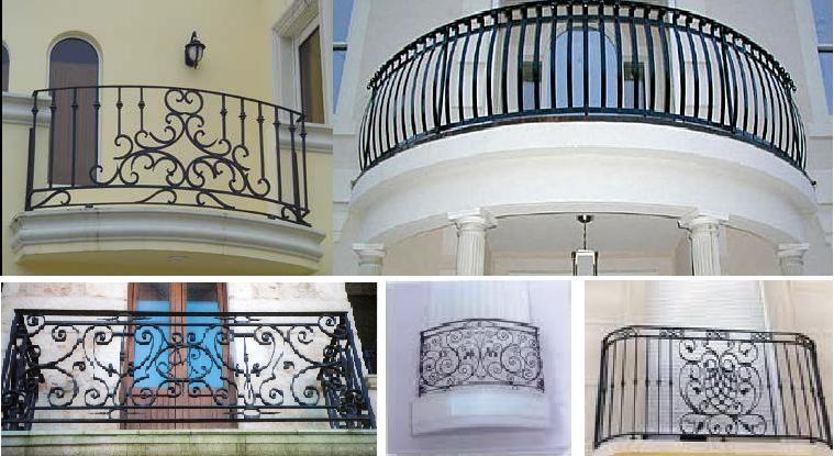 ... etc aquí le mostramos algunas fotografías de balcones de herrería