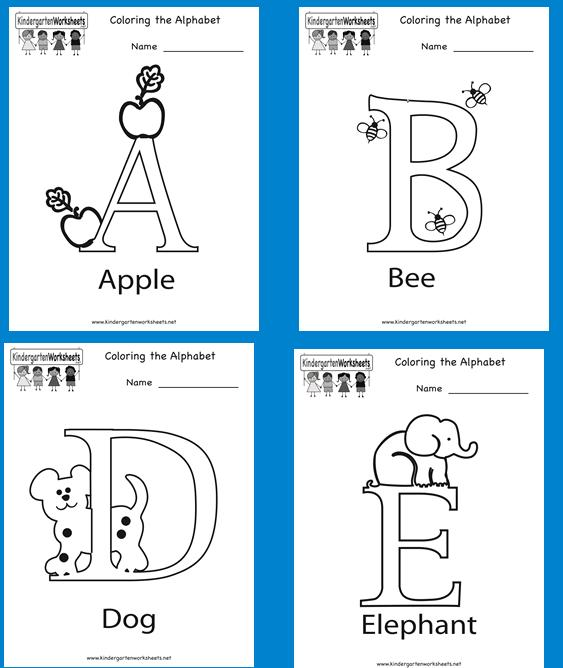 Homeschool Parent: Alphabet Coloring Book