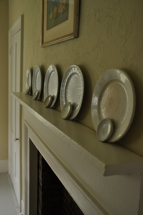 LAYERING ISN'T JUST FOR FABRICS, TRY VERTICAL IRONSTONE PLATES