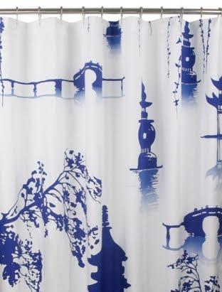 Curtains Ideas chinoiserie curtains : Chinoiserie Chic: Chinoiserie Shower Curtains