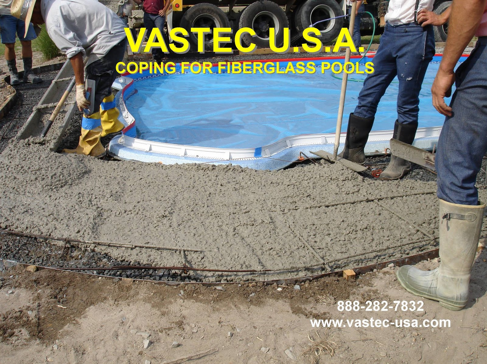 Laying Pool Coping On Fiberglass Pool