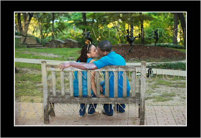 Plano Texas engagement pictures portraits of couple outdoors in summer