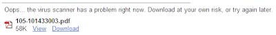Google Antivirus Down