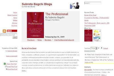 Subroto Bagchi Blog