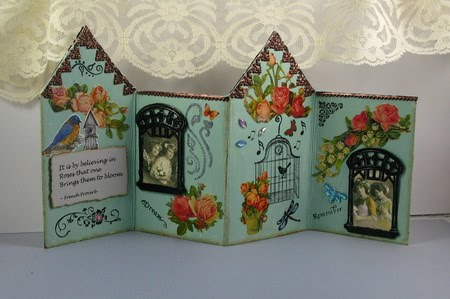 Inside -  House fold up card