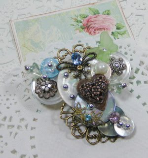 Button Brooch ~ SOLD