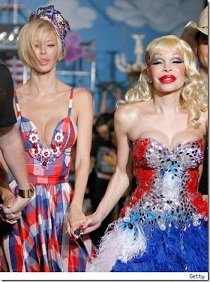 Amanda Lepore and Jenna Jameson
