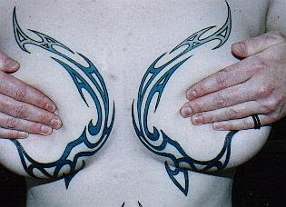 Beautiful Tattoos Styles of Female's Breast