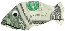 Billy Bass money sculptures created by dollar