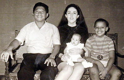 His mother remarried, and the family moved to Indonesia in 1967