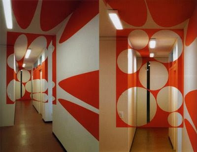 optical illusions are integrated in interior designs