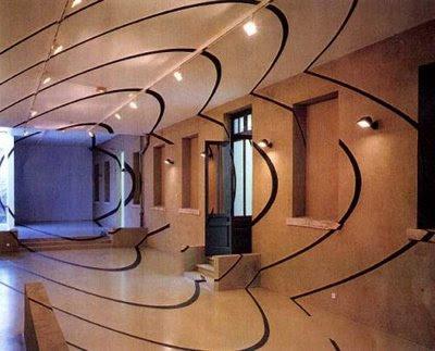 optical illusions are integrated in interior designs