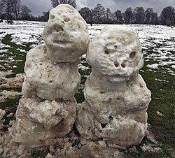 disturbing snowmen