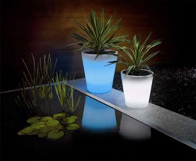 stylish Solar Powered Plant Pot