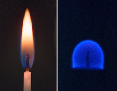 Пламя свечи в невесомости