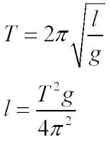 формула маятника
