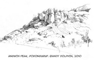 andy dolphin sketch australian landscape