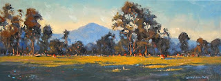 oil landscape plein air sketch, australia, andy dolphin