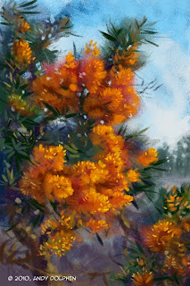 nuytsia floribunda Christmas tree painting