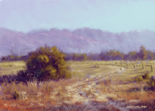 digital landscape painting australian farm