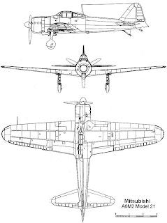 """Mitsubishi a6m tipo 00 """"reisen"""""""