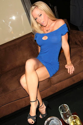 Kendra Wilkinson in a nice sexy blue dress