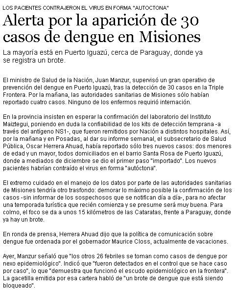 Dengue en Misiones