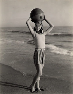 Myrna Loy demonstrates an early LORAN array.