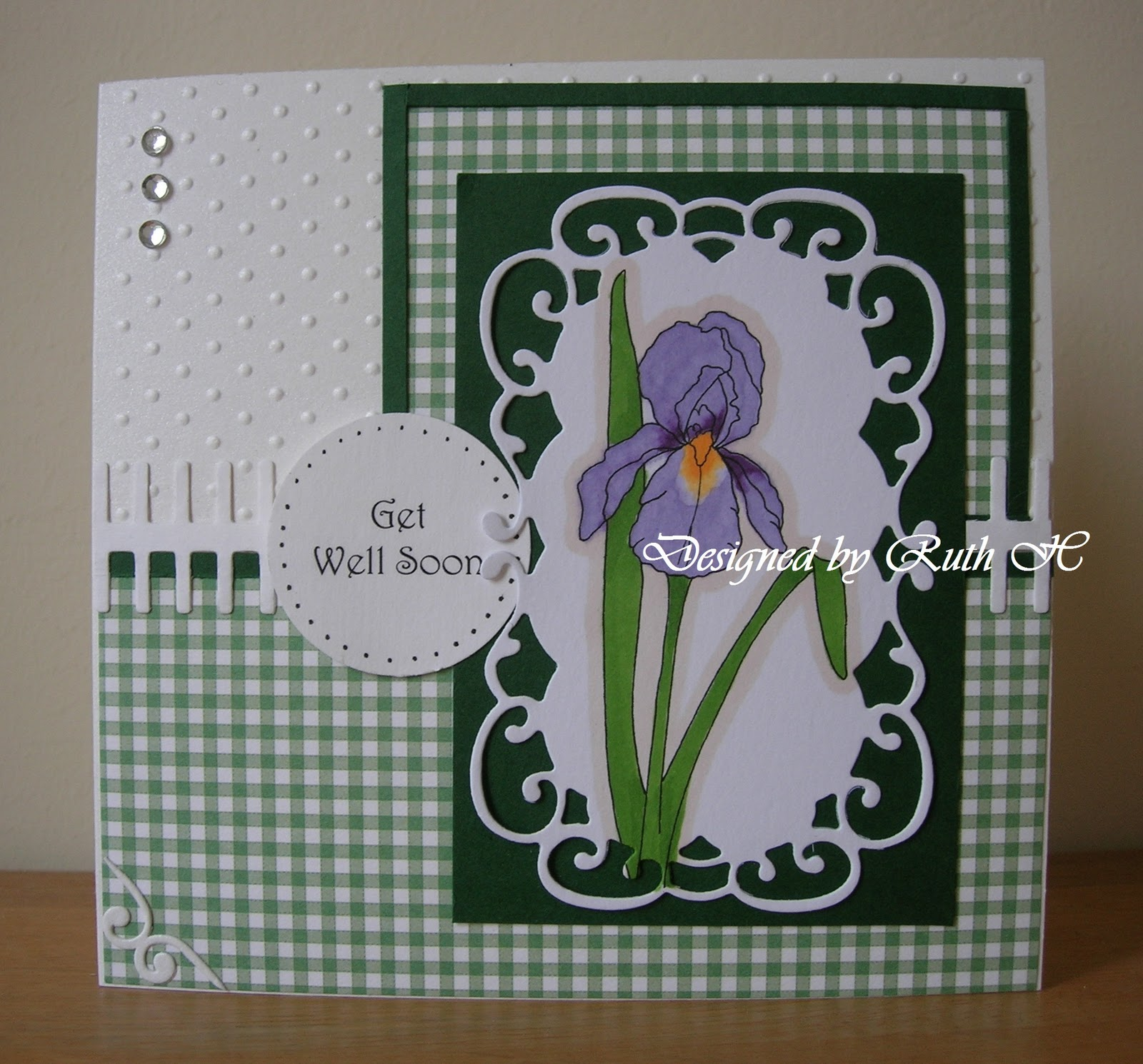 A Passion For Cards Get Well Soon Iris