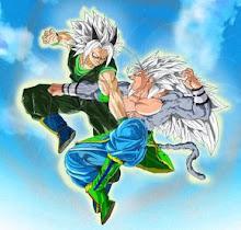 Zaiko,début d'un entrainement Goku+SSJ+5+vs+Zaiko+Icono