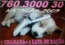 760 3000 30= 1 lata de ração oferecida aos 1600 animais abandonados- ENCERRADO