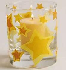 Portavelas con estrellas