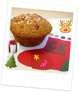 Un muffin in versione natalizia!