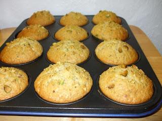 Muffins ai pistacchi e cioccolato bianco