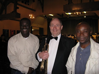 Sam, Jean-Claude, my trumpet and me