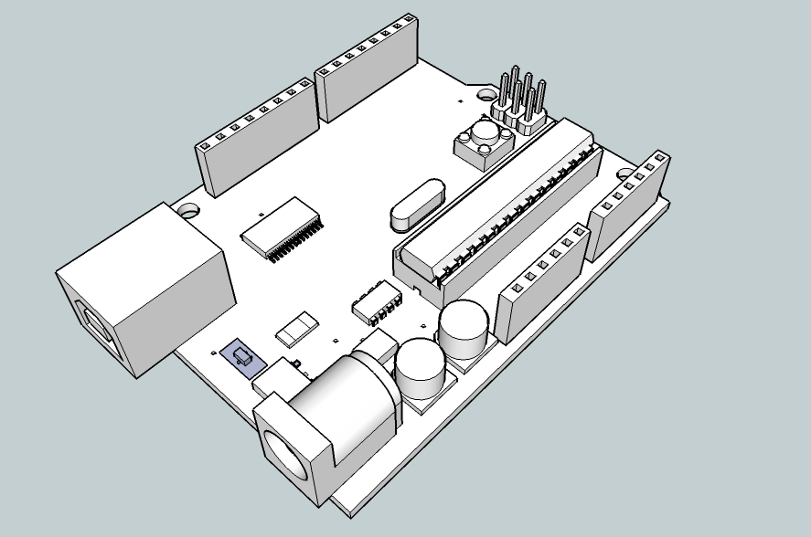 Daily learning notes drawing arduino in google sketchup