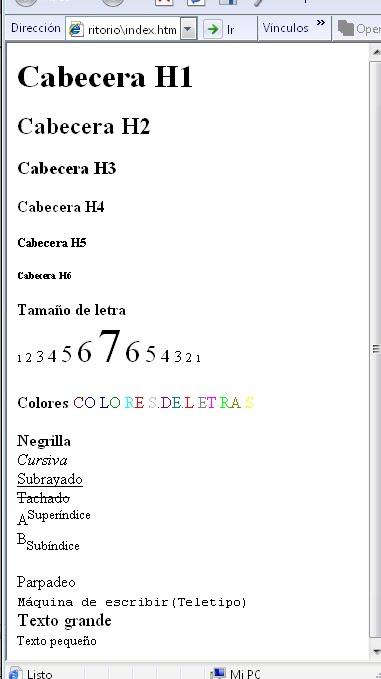 Beholia Software Tipo De Letra En Html