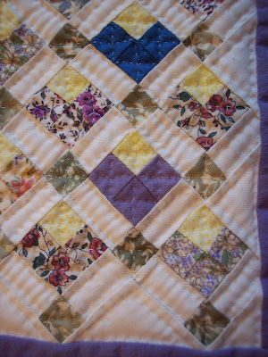Hand Quilting Little Heart Quilt