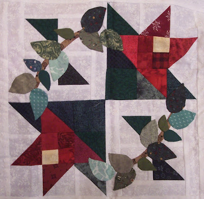 Quilt pattern block from The Wedding, Book Eight of The Quilt Ladies Book Collection