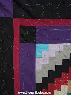 Amish Colors Quilted Table Runner, hand quilted