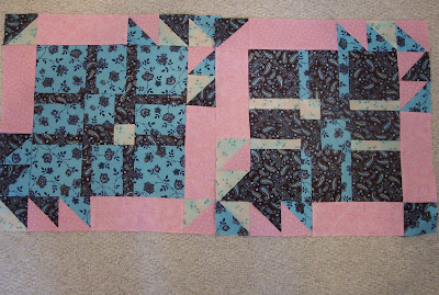 Quilt Pattern by The Quilt Ladies - blue and brown fabric used