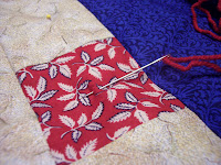 Backing a Quilt and Tied with Yarn by The Quilt Ladies