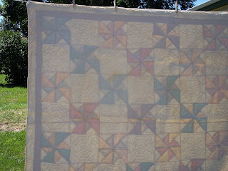 Great, Great Grandma Made This Pin Wheel Quilt for My Mom in 1936