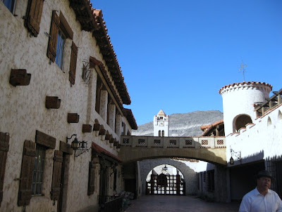 Courtyard Scotty's Castle Death Valley National Park California