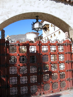 Gate into Scotty's Castle Death Valley National Park California