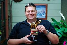 THE CIRQUE TROPHY WITH ITS CREATOR