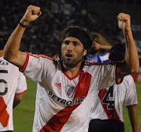 Mariano Pavone festejando el 2 a 1 River Plate Godoy Cruz