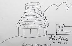 Helen Clark's (?) Beehive doodle
