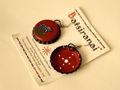 batsiranai - hand painted earrings
